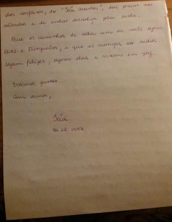 Carta de despedida para educadores da Escola Inkiri - pg 2